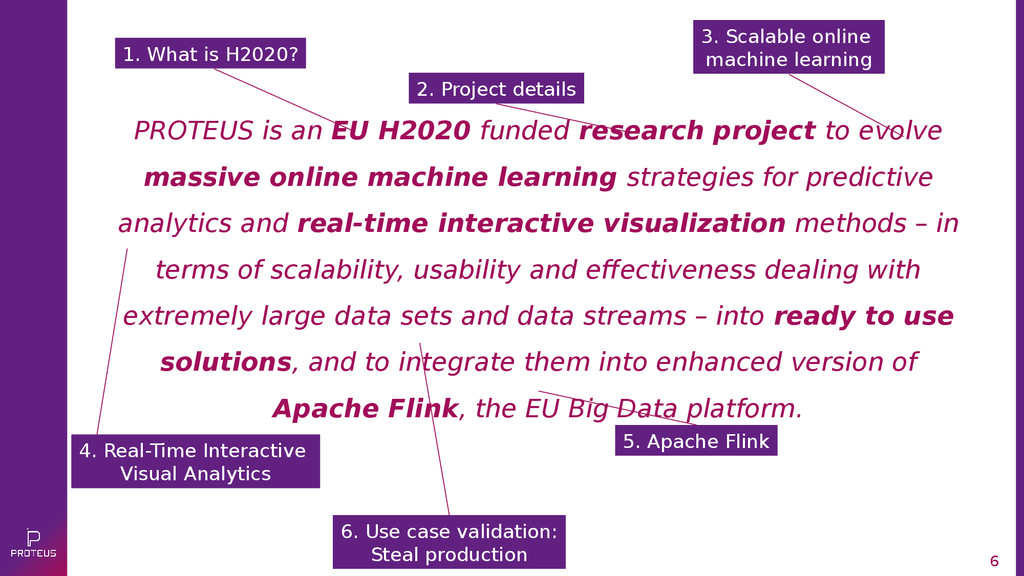 6 PROTEUS is an EU H2020 funded research projec...