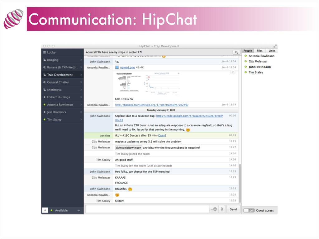 Communication: HipChat