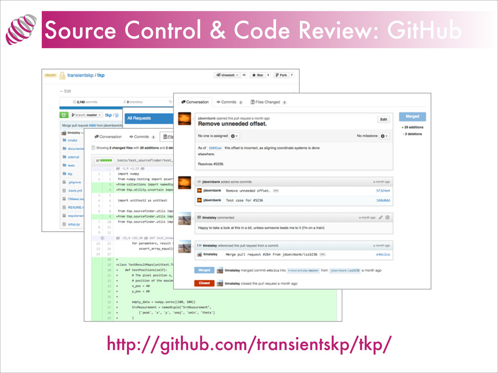 Source Control & Code Review: GitHub http://git...