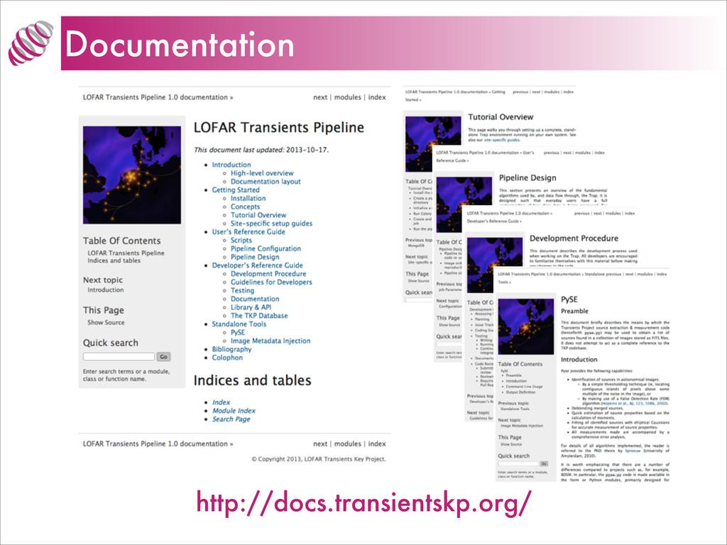 Documentation http://docs.transientskp.org/