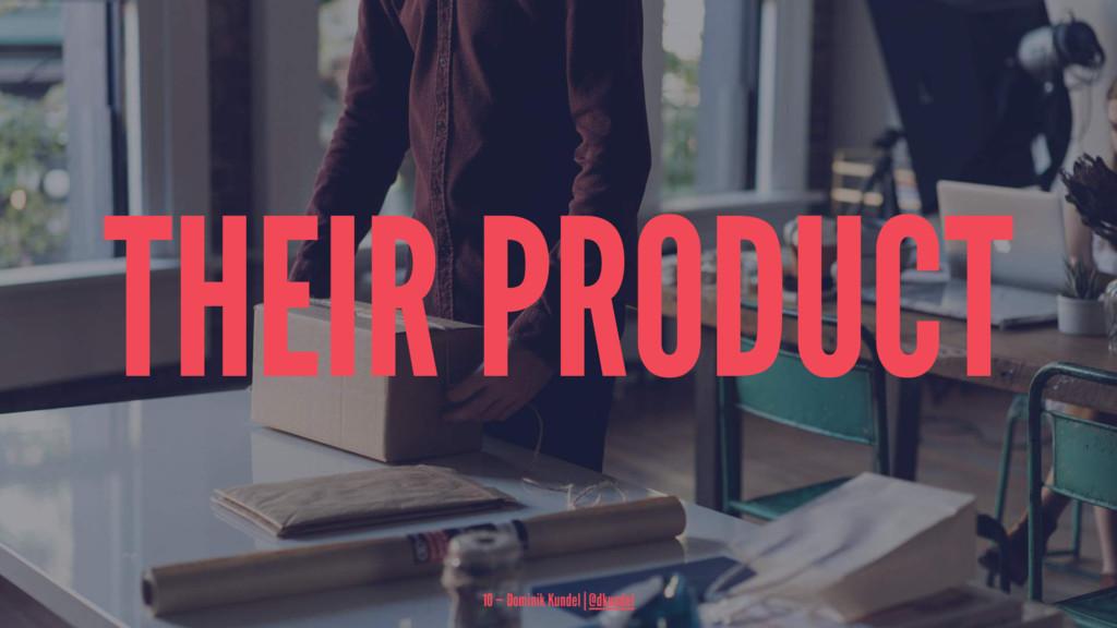THEIR PRODUCT 10 — Dominik Kundel | @dkundel