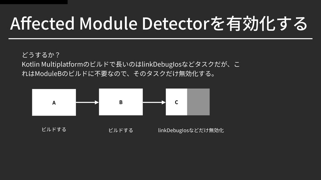 Affected Module Detectorを有効化する どうするか? Kotlin Mul...