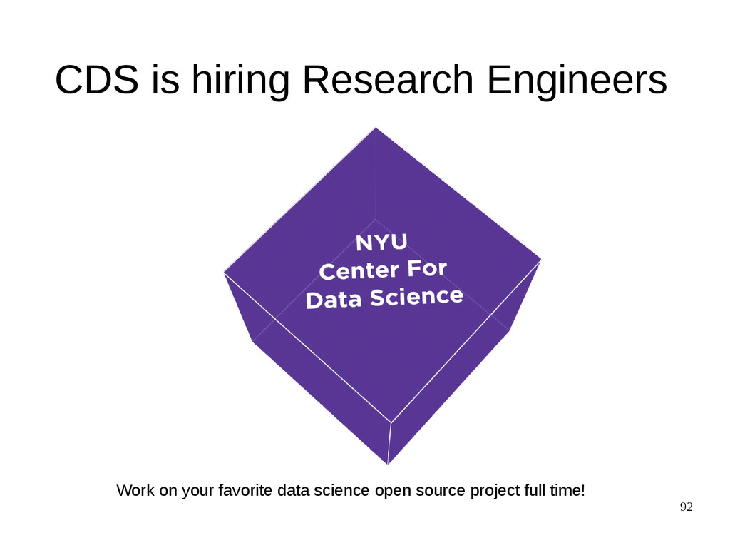 92 CDS is hiring Research Engineers Work on you...