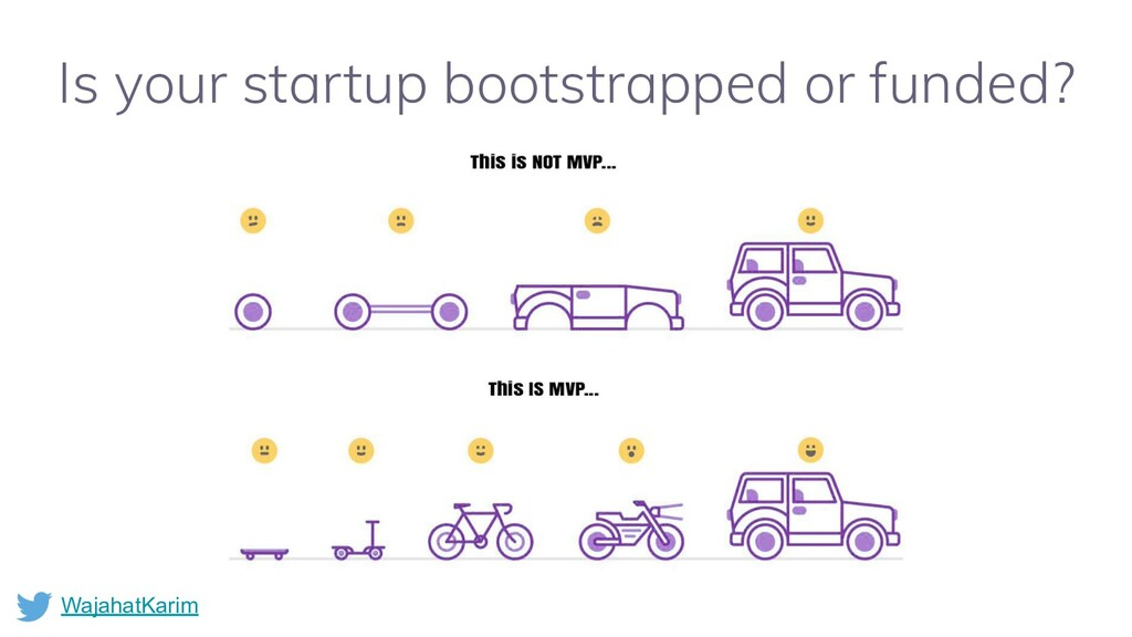 WajahatKarim Is your startup bootstrapped or fu...