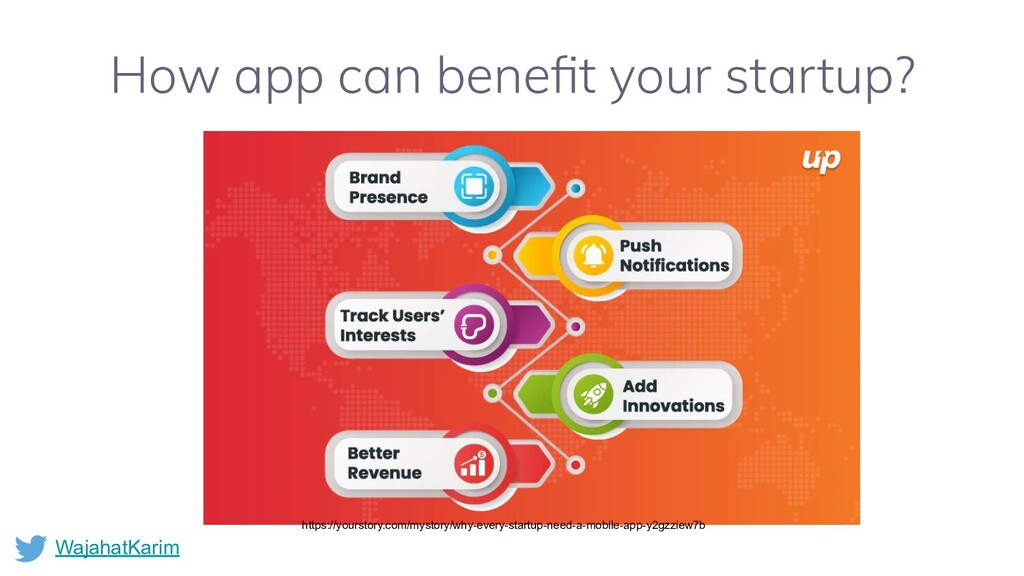 WajahatKarim How app can benefit your startup? h...