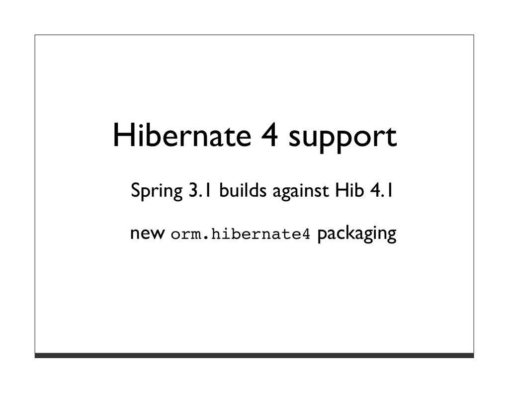 Hibernate 4 support Spring 3.1 builds against H...