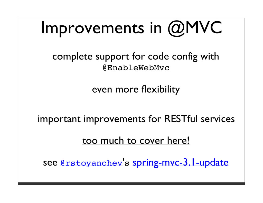 Improvements in @MVC complete support for code ...