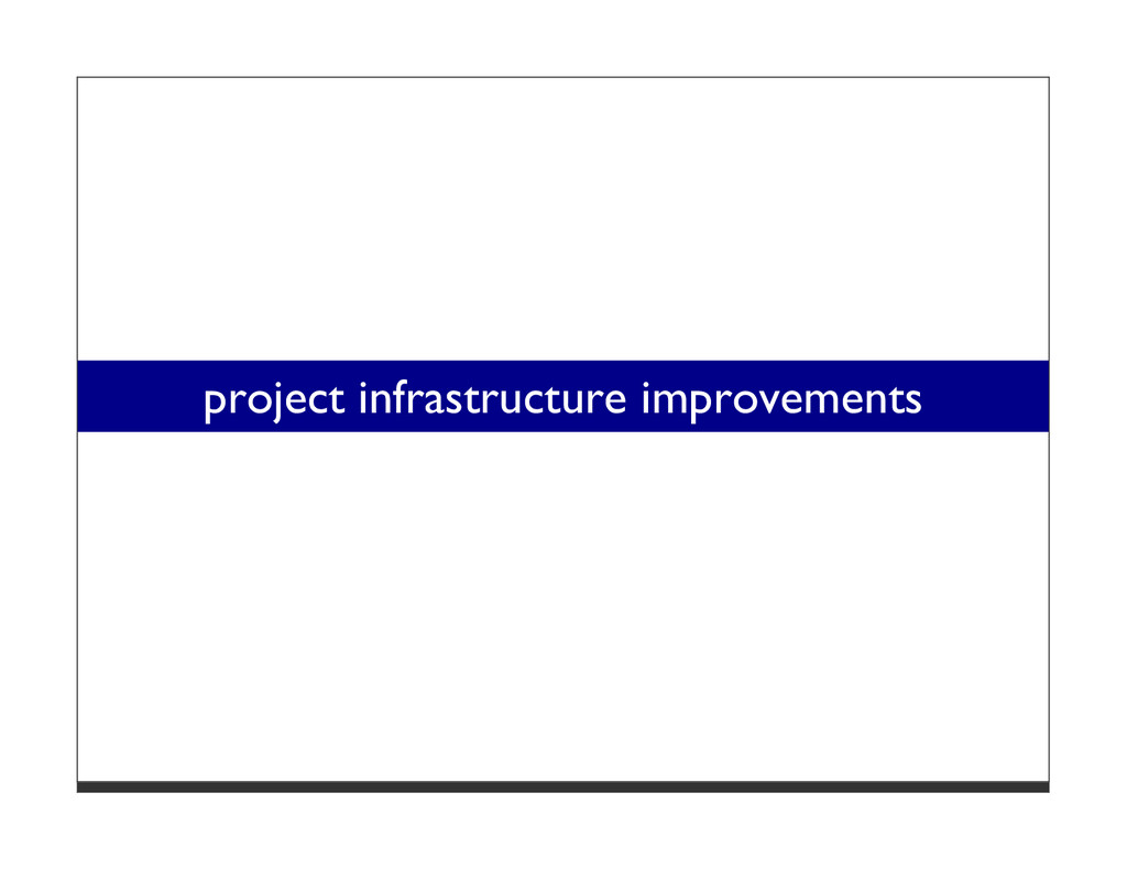 project infrastructure improvements