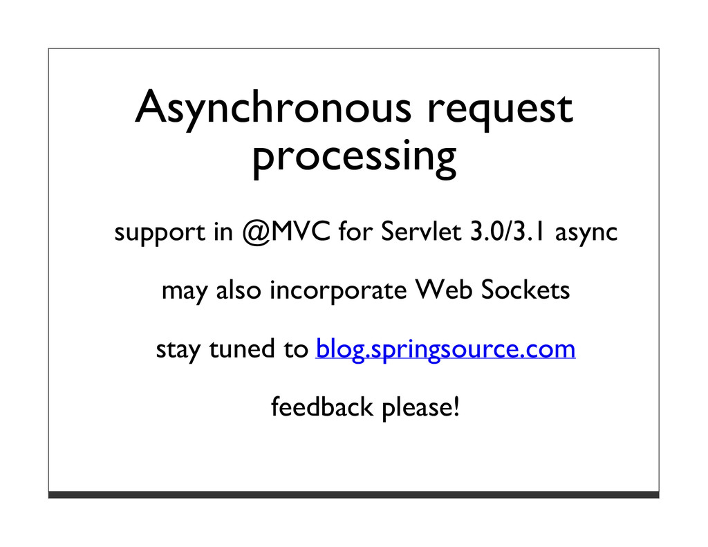 Asynchronous request processing support in @MVC...