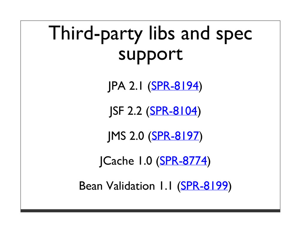 Third-party libs and spec support JPA 2.1 (SPR-...