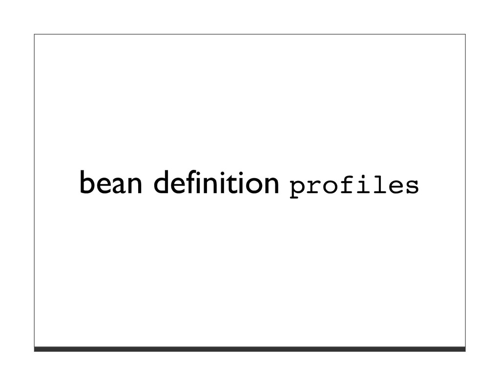 bean definition profiles