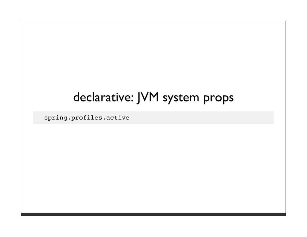 declarative: JVM system props spring.profiles.a...