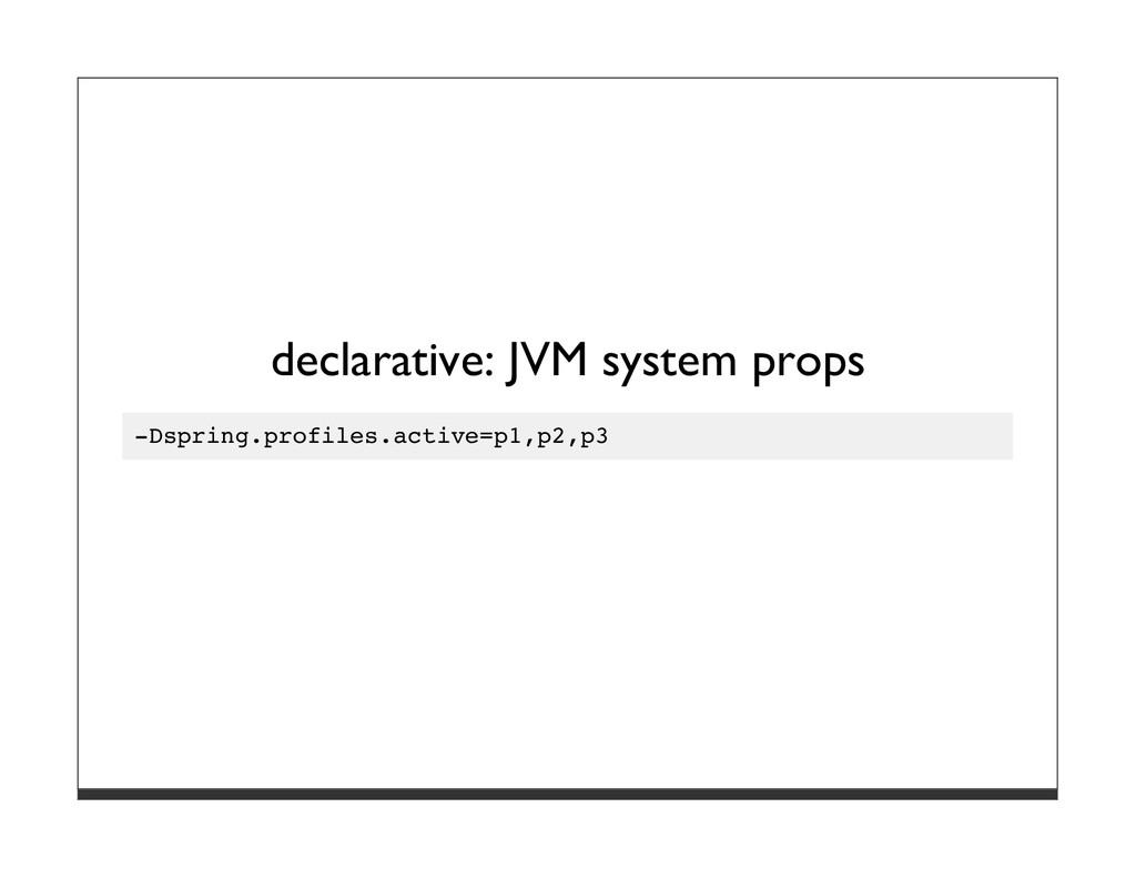 declarative: JVM system props -Dspring.profiles...