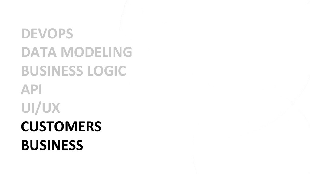 DEVOPS DATA MODELING BUSINESS LOGIC API UI/UX C...