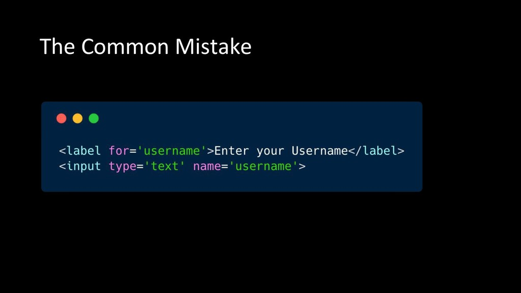 The Common Mistake