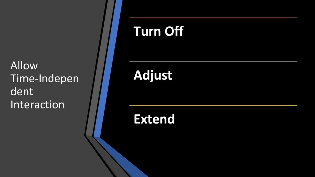 Allow Time-Indepen dent Interaction Turn Off Ad...