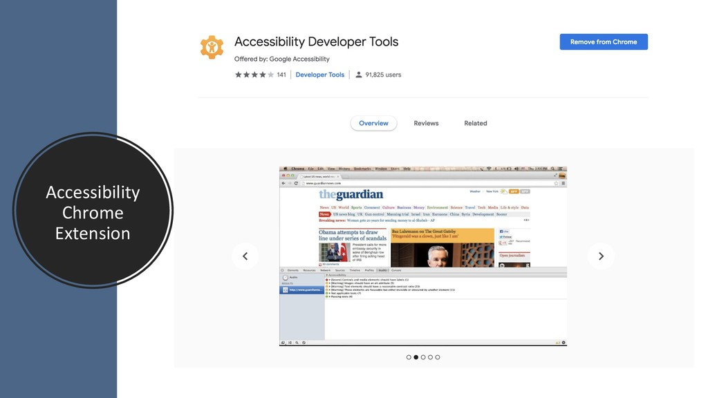Accessibility Chrome Extension
