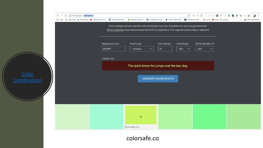Color Combination colorsafe.co