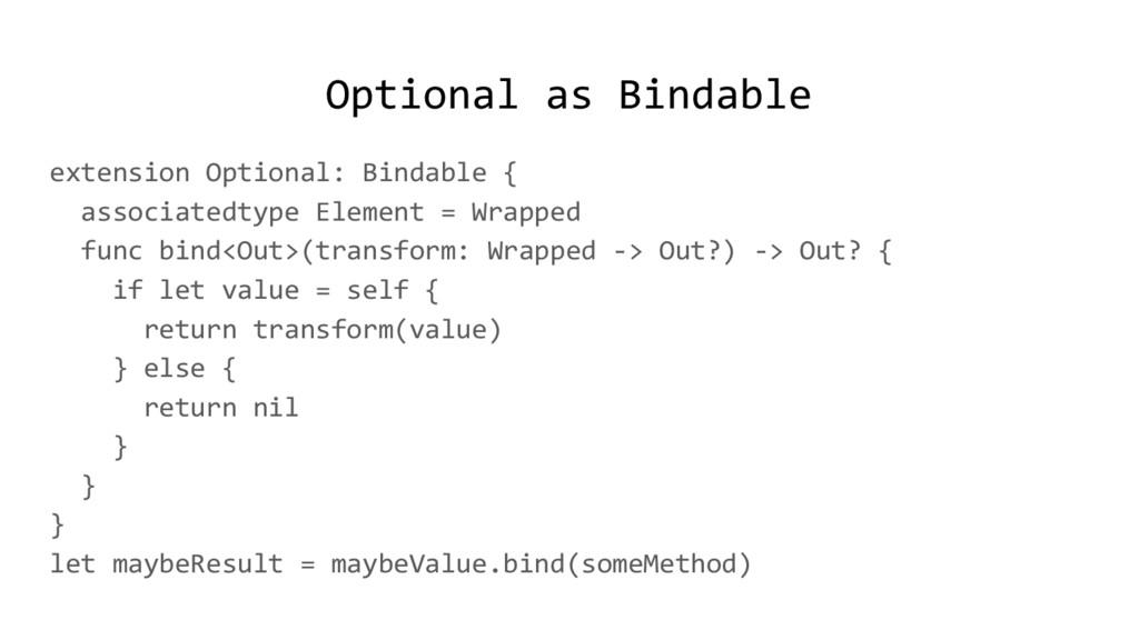 Optional as Bindable extension Optional: Bindab...