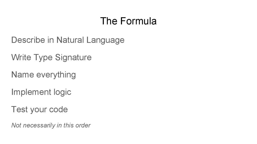 The Formula Describe in Natural Language Write ...