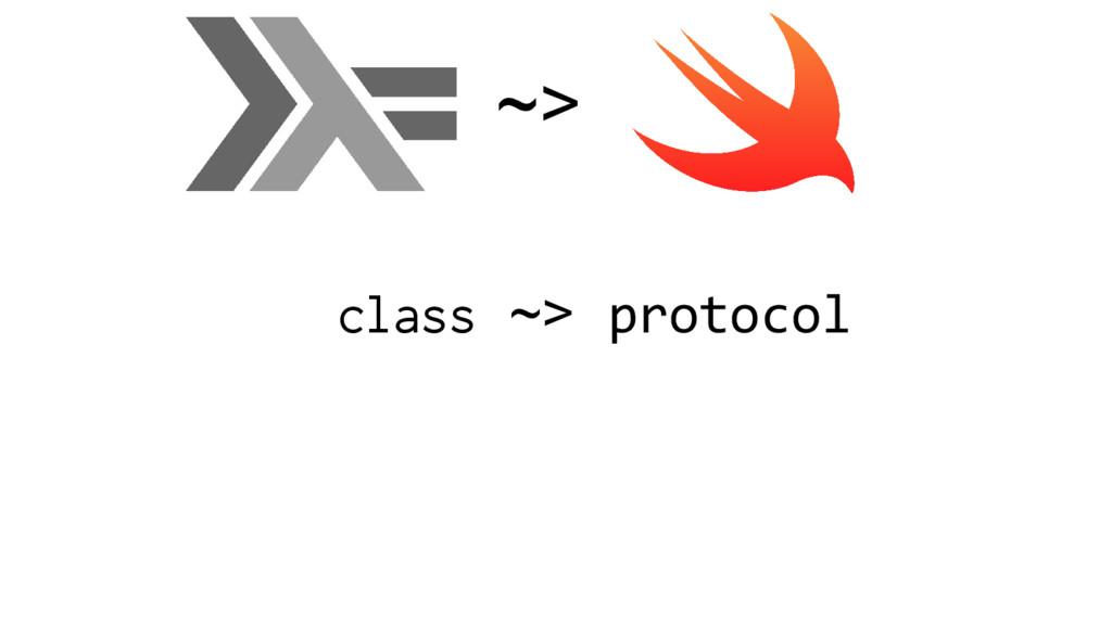 class ~> protocol ~>