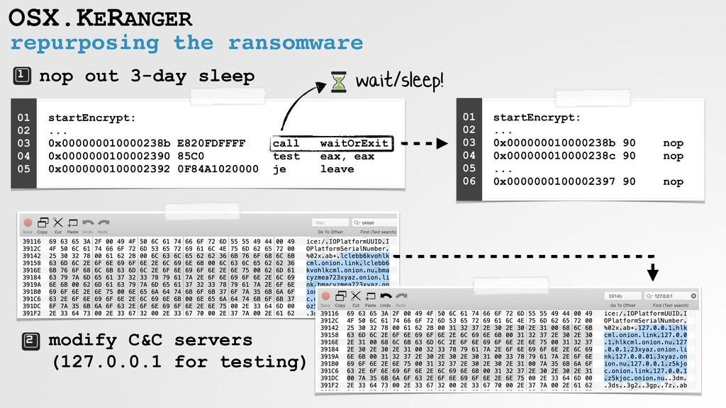 repurposing the ransomware OSX.KERANGER nop out...