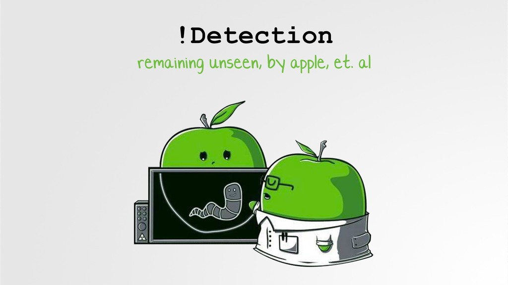 !Detection remaining unseen, by apple, et. al