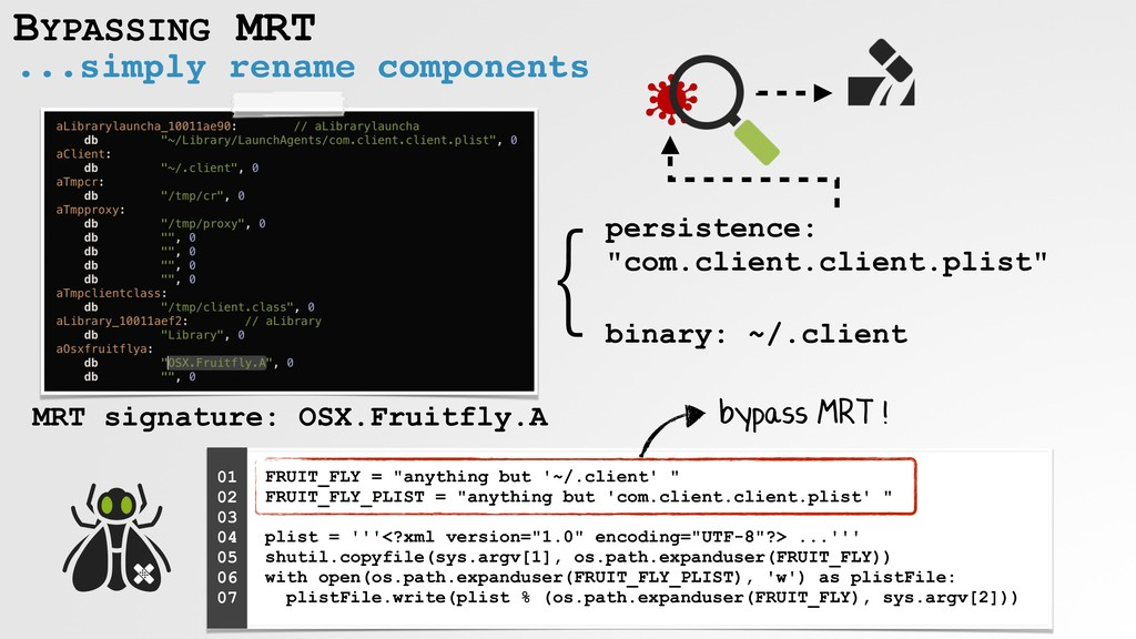 ...simply rename components BYPASSING MRT } MRT...