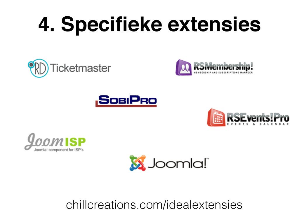 4. Specifieke extensies chillcreations.com/ideal...