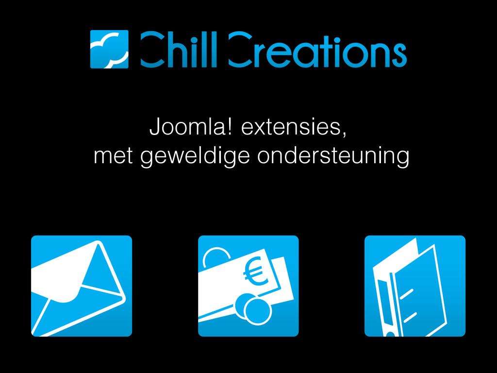 Joomla! extensies, met geweldige ondersteuning