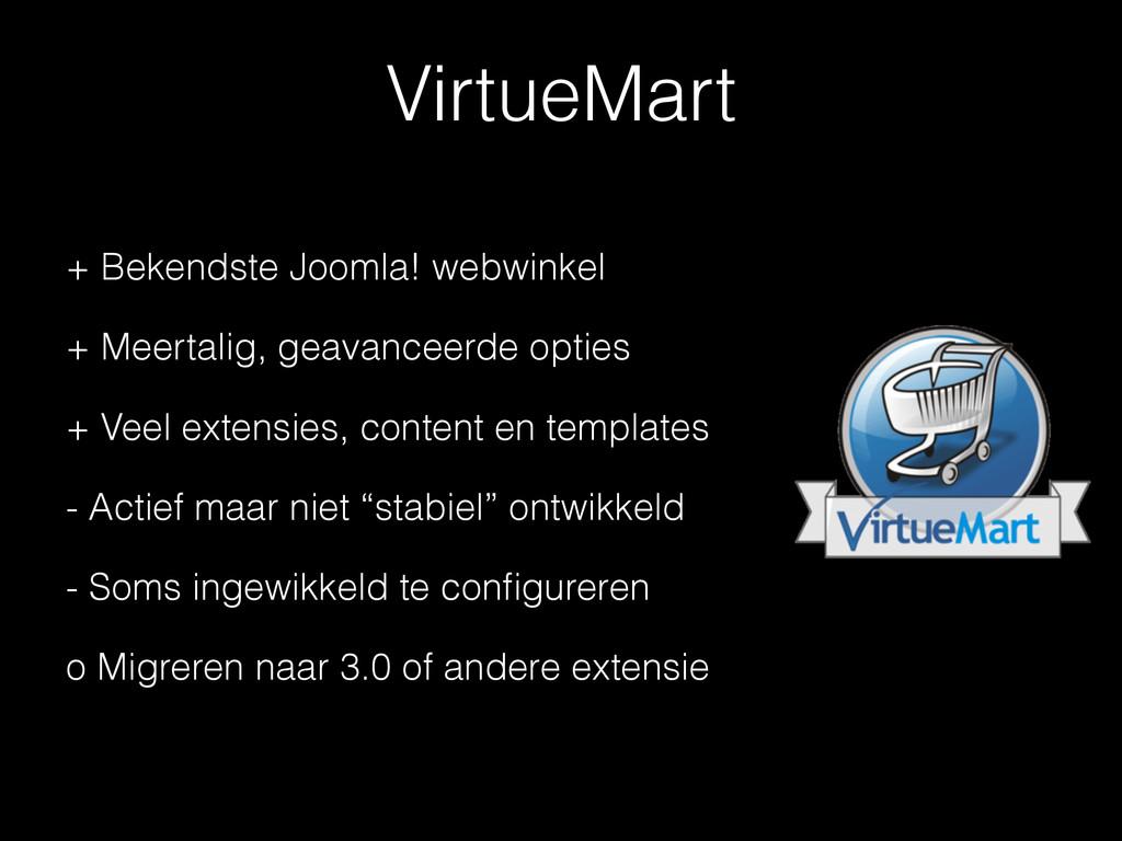 VirtueMart + Bekendste Joomla! webwinkel + Meer...