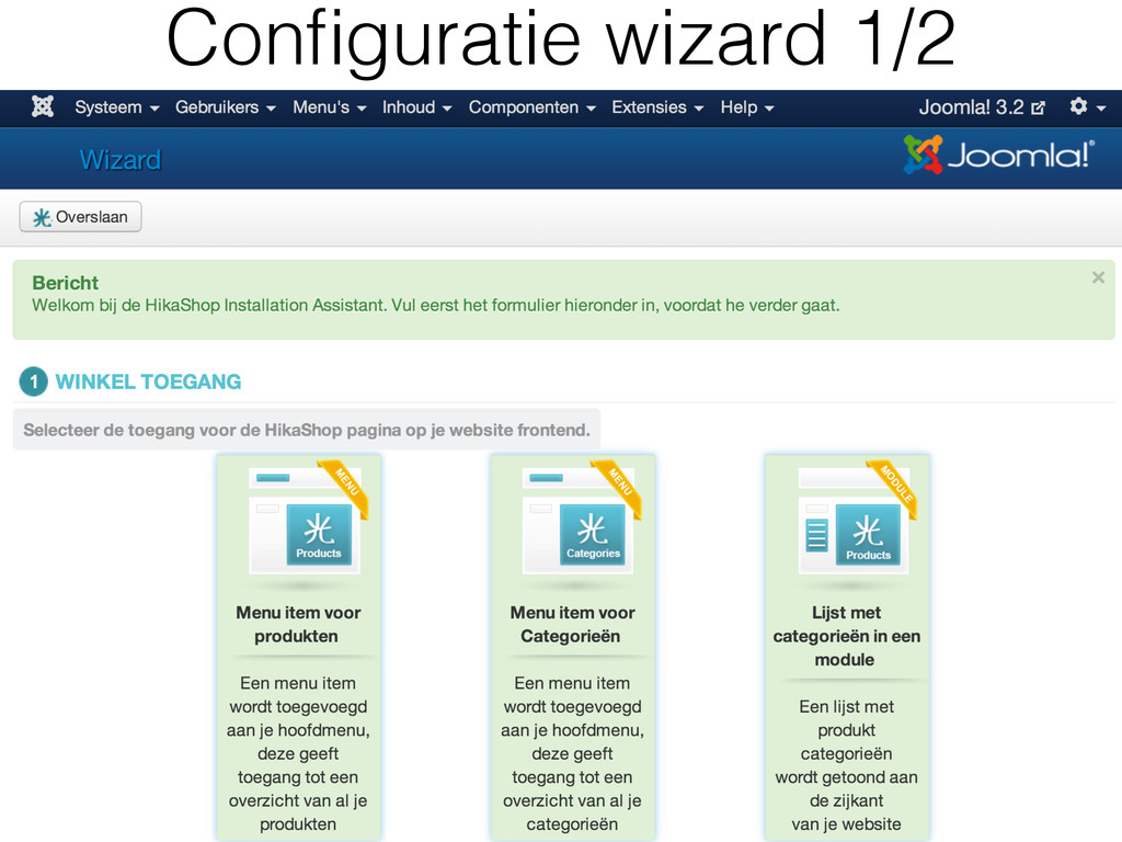 Configuratie wizard 1/2