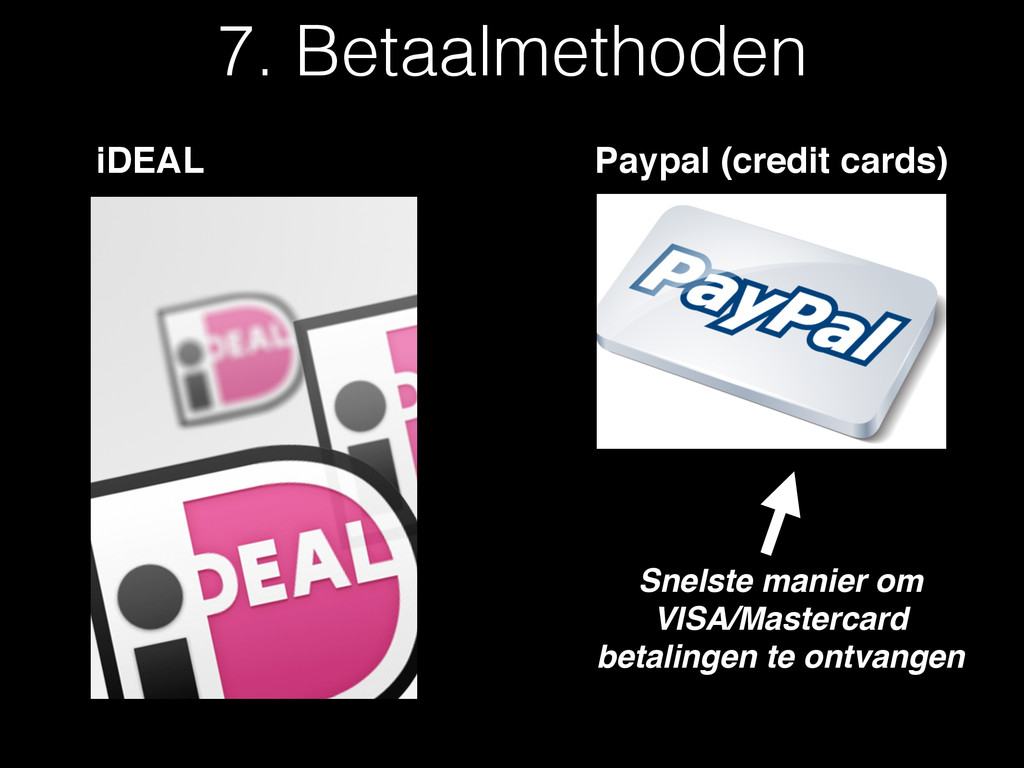 iDEAL Paypal (credit cards) Snelste manier om V...