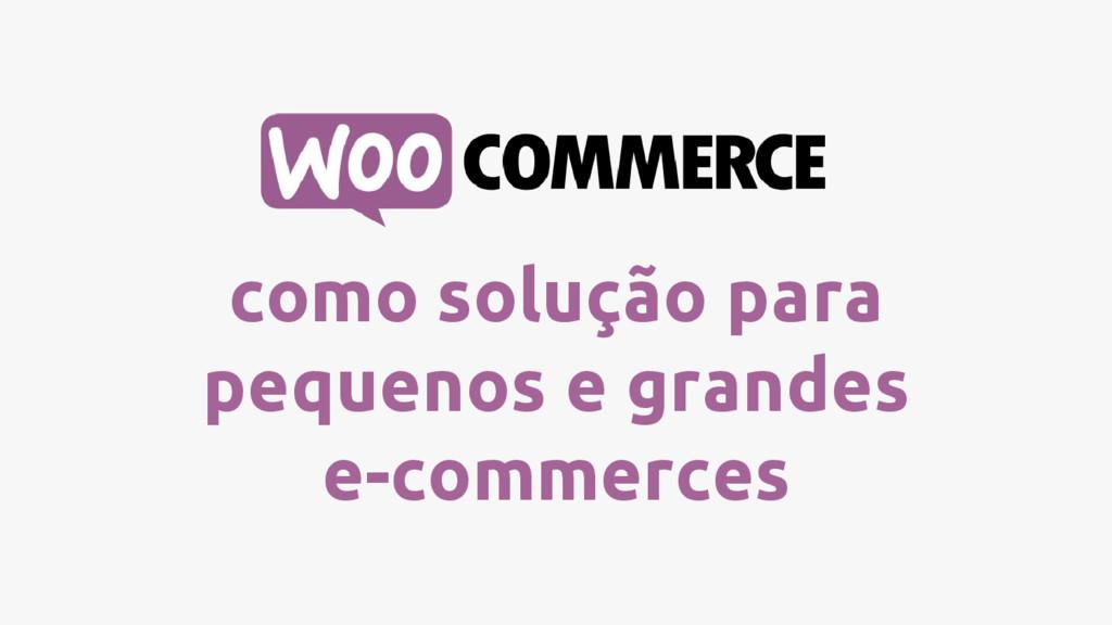 como solução para pequenos e grandes e-commerces