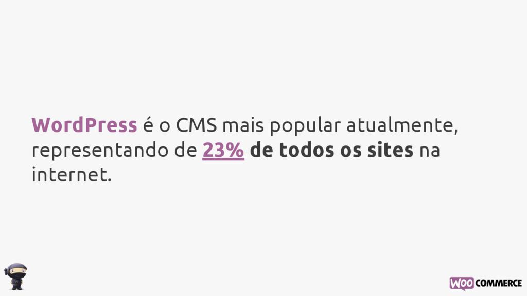 WordPress é o CMS mais popular atualmente, repr...