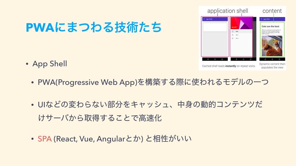 PWAʹ·ͭΘΔٕज़ͨͪ • App Shell • PWA(Progressive Web ...
