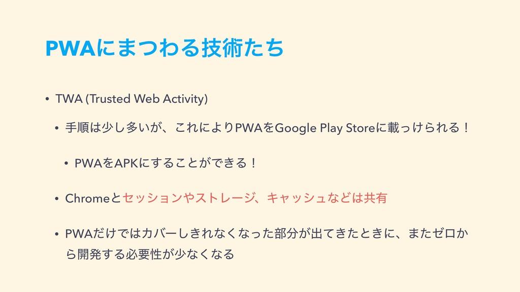 PWAʹ·ͭΘΔٕज़ͨͪ • TWA (Trusted Web Activity) • खॱ...