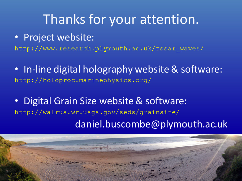 Thanks for your attention. • Project website: h...