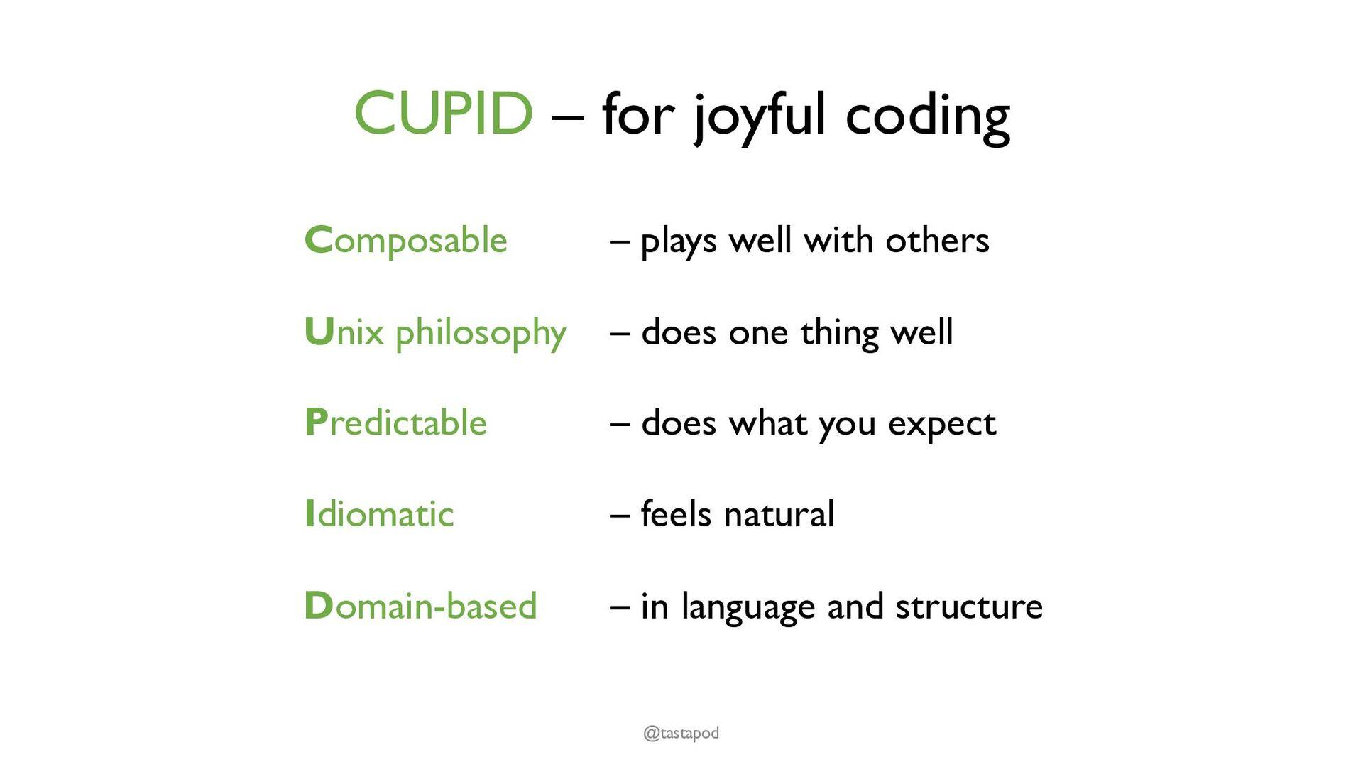 Idiomatic Uses language idioms - standard featu...