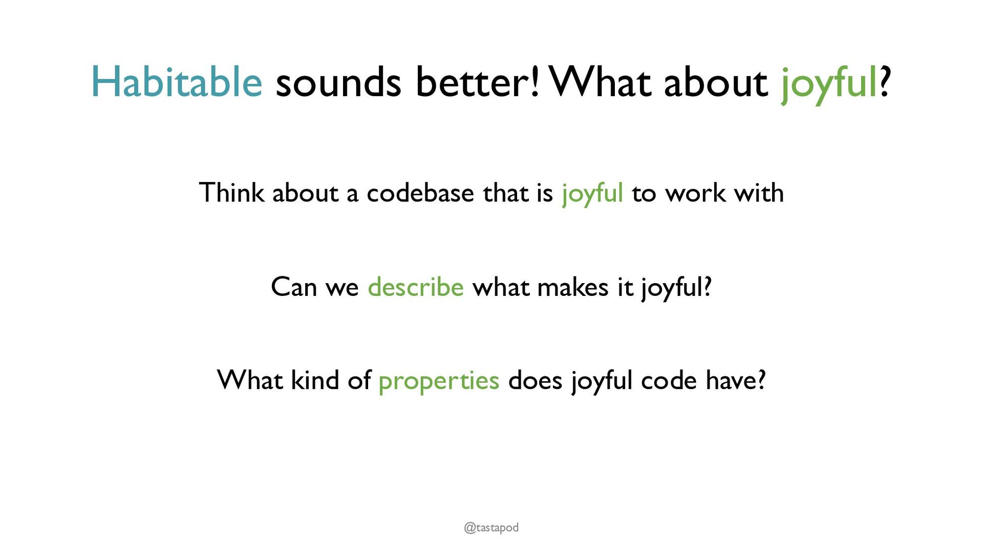 Composable Code that is easy to use gets used, ...