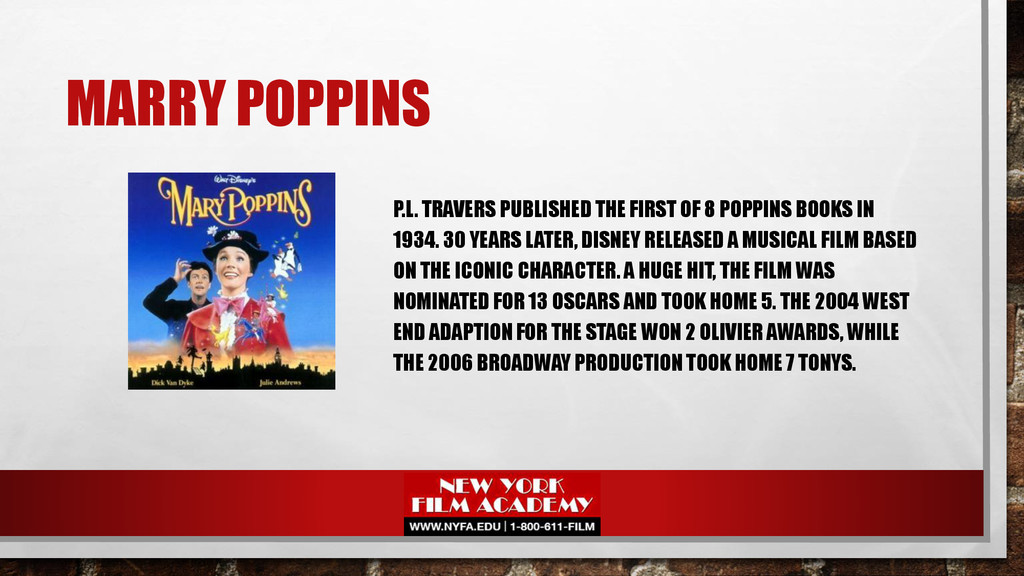 MARRY POPPINS P.L. TRAVERS PUBLISHED THE FIRST ...