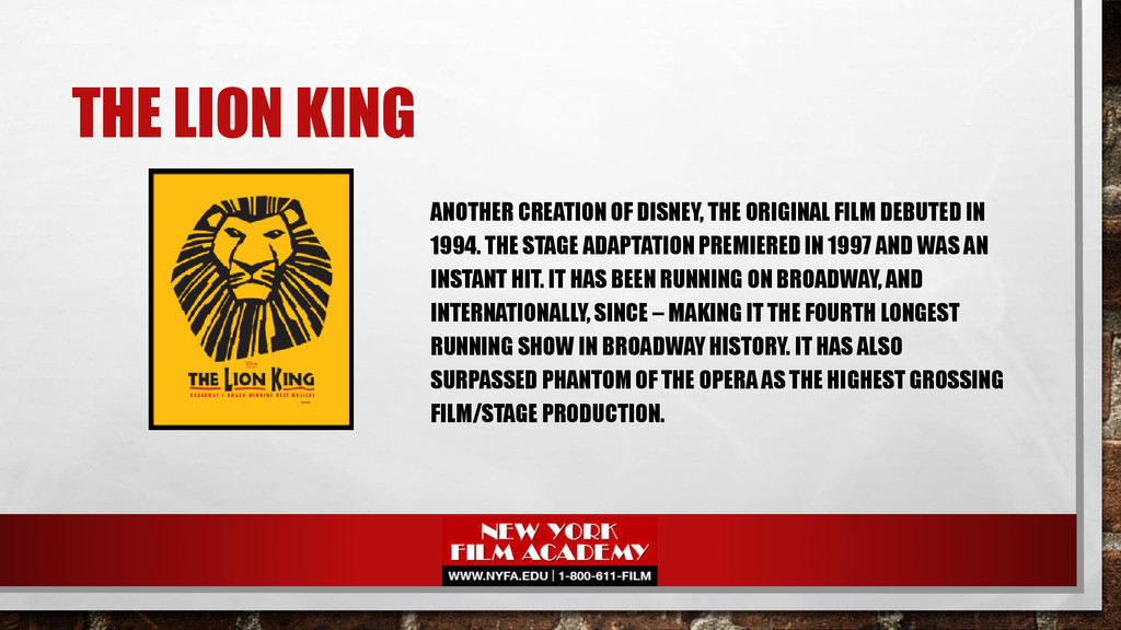 THE LION KING ANOTHER CREATION OF DISNEY, THE O...