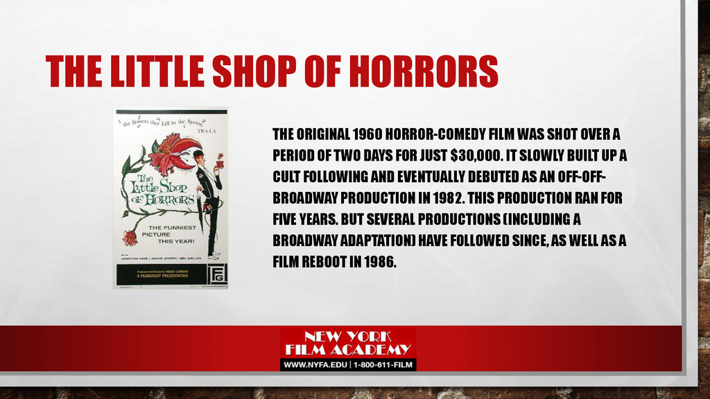 THE LITTLE SHOP OF HORRORS THE ORIGINAL 1960 HO...