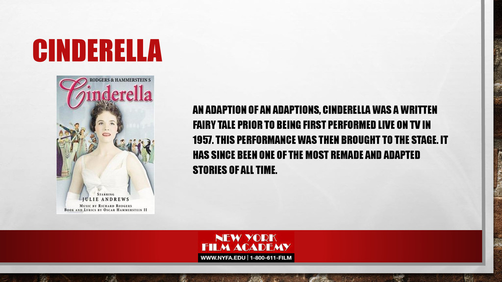 CINDERELLA AN ADAPTION OF AN ADAPTIONS, CINDERE...