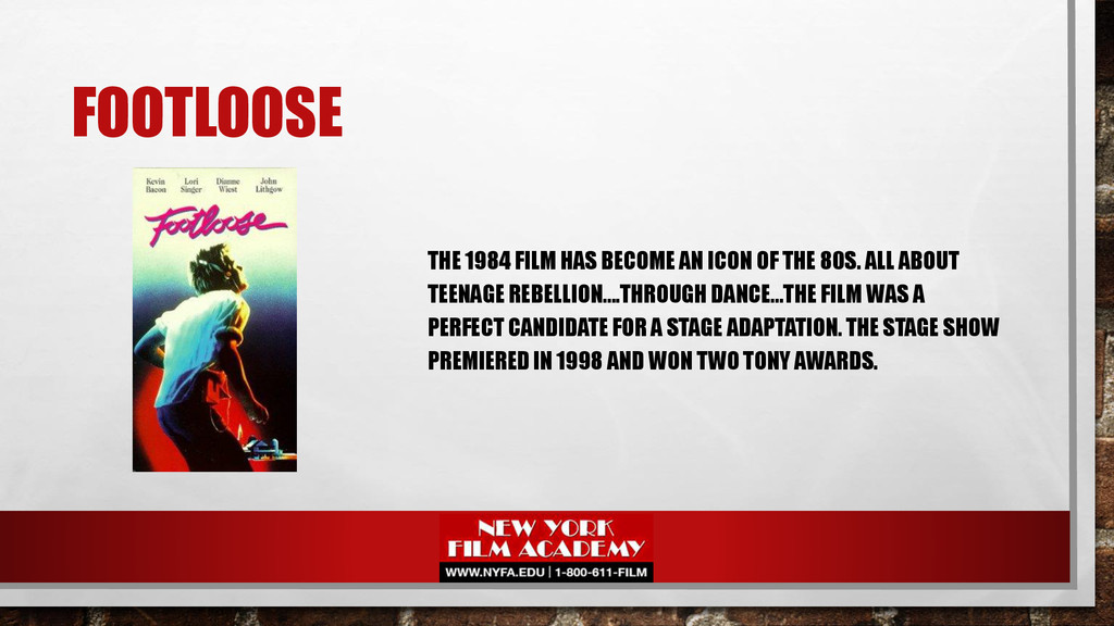 FOOTLOOSE THE 1984 FILM HAS BECOME AN ICON OF T...