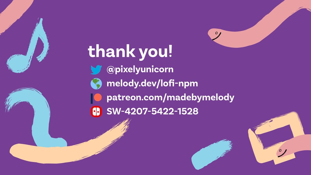 o o thank you! @pixelyunicorn melody.dev/lofi-np...