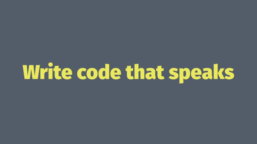 Write code that speaks