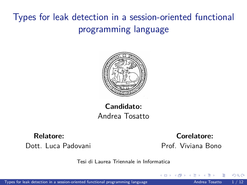 Types for leak detection in a session-oriented ...