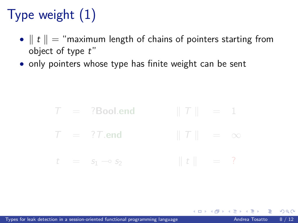 """Type weight (1) • t = """"maximum length of chains..."""