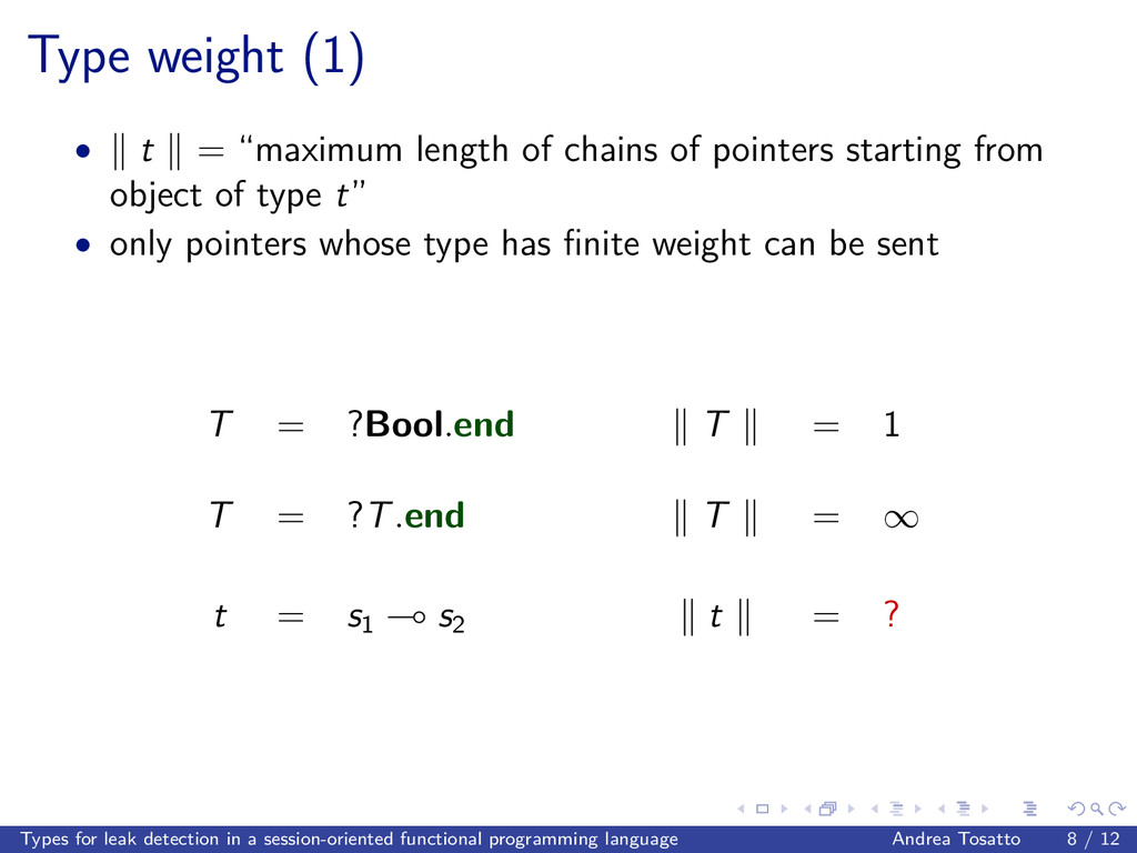 "Type weight (1) • t = ""maximum length of chains..."